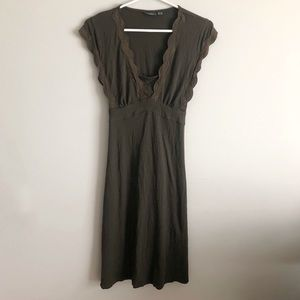 Mexx Olive Green & Crochet Casual Summer Dress